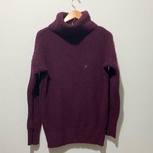 Purple Turtleneck Sweater
